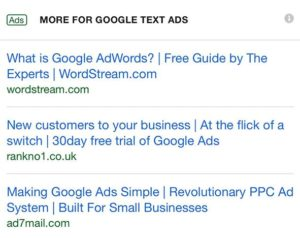 Annonces Google Ads sans description