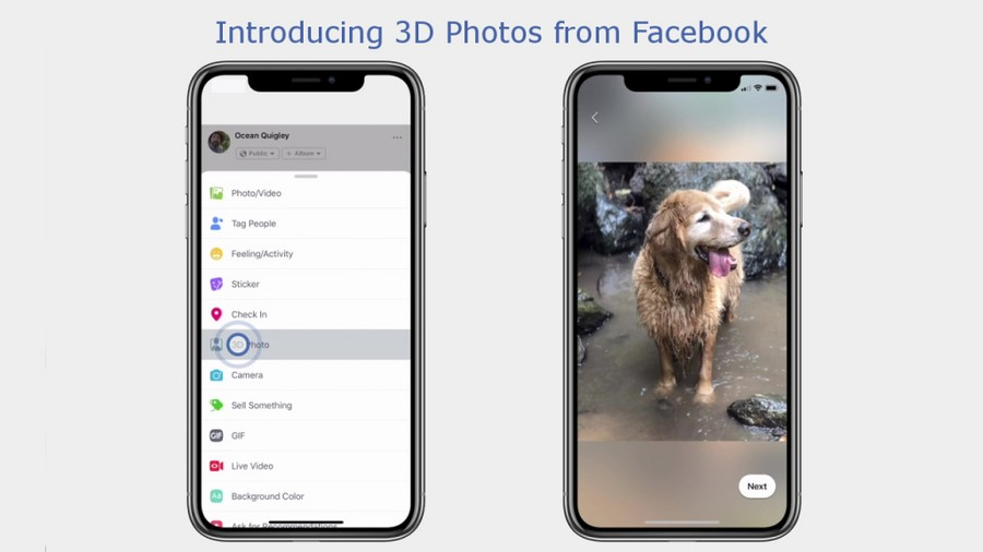 Facebook lance les photos 3D