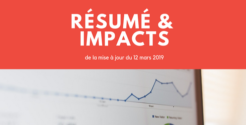 March 2019 Core Update de Google: résumé et impacts de la mise à jour du 12 mars 2019